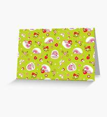 Cute Hedgehog Baby Print Greeting Card