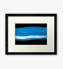 Blue Stream Framed Print