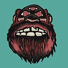 SCARY MONSTER BIGFOOT WITH THREE EYES by FireAwayMarmot