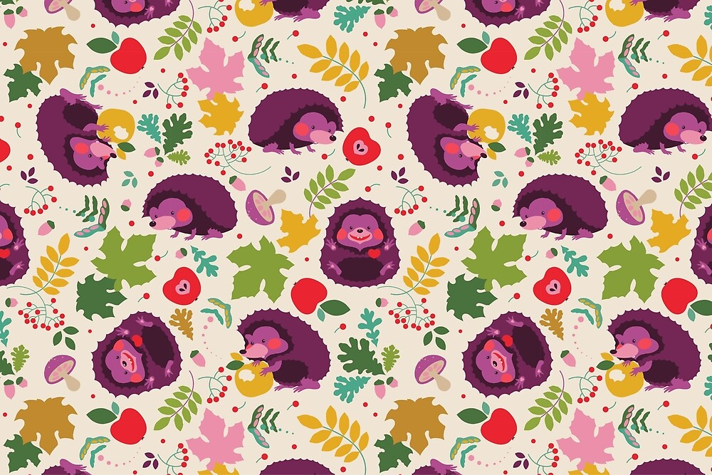 Hedgehog Print by Kimazo