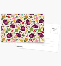 Hedgehog Print Postcards