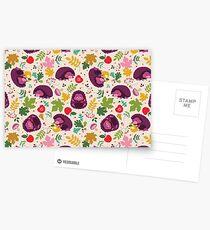 Hedgehog Print Postkarten
