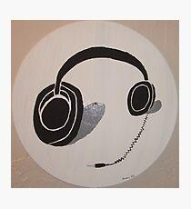 Headphones Photographic Print