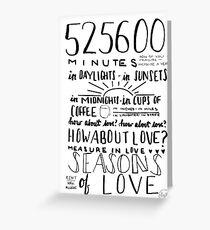 Jahreszeiten der Liebe (Miete) Grußkarte