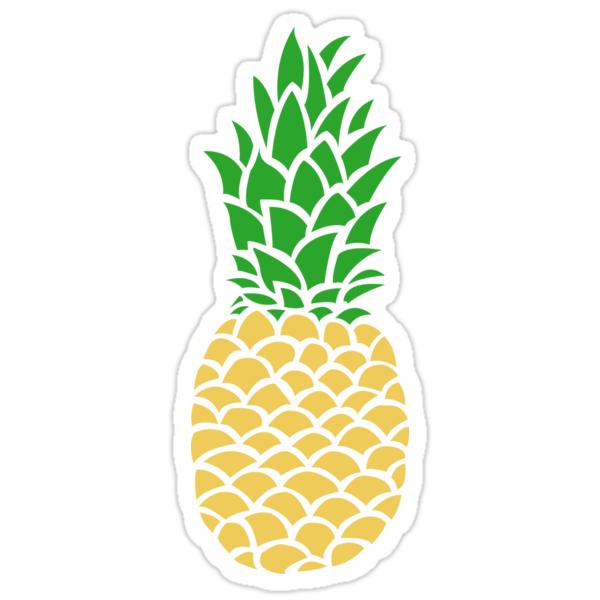 25438421 Pineapple Tumblr on S Spiral Border Green