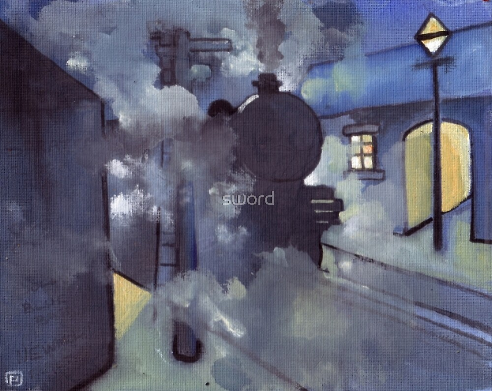 Steam train (from my original acrylic painting) by sword
