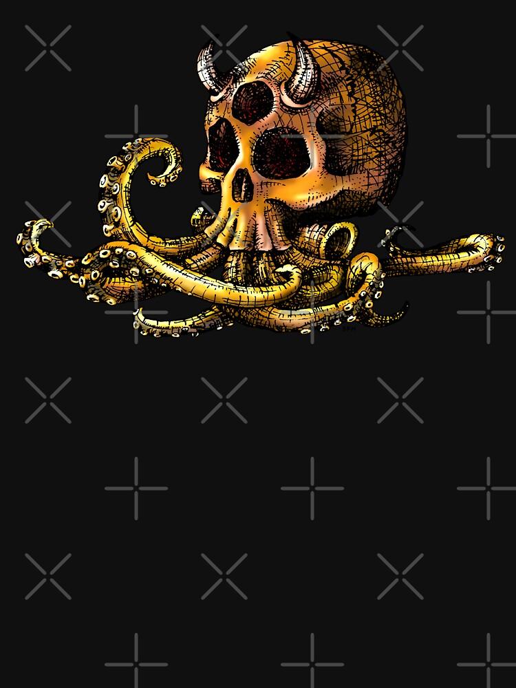 OctoSkull - Cthulhu Skull Octopus Illustration by forge22