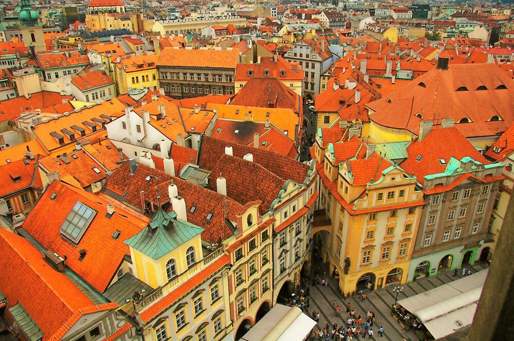 Rooftops of Prague by SHARON WARREN