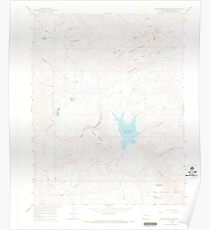 USGS TOPO Map Colorado CO Groundhog Reservoir 450939 1964 24000 Poster