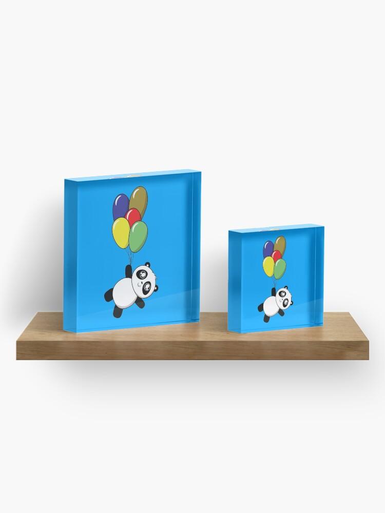 Alternative Ansicht von Pandas! Ballons! Acrylblock