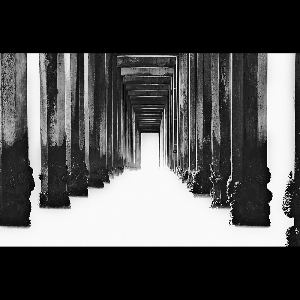 Scripps Pier - High Key by Michael Mancini