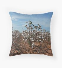 In Dem Ole Cotton Fields Back Home Throw Pillow