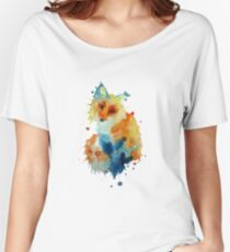 Charlotte's Watercolour Fox (White) Women's Relaxed Fit T-Shirt