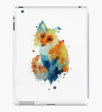 Charlotte's Watercolour Fox (White) iPad Case/Skin