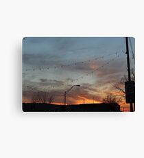 Sunset from the street Canvas Print