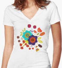 Magischer Nacht Garten Women's Fitted V-Neck T-Shirt