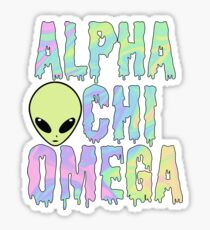 alien alpha trippy chi drippy omega dope Sticker