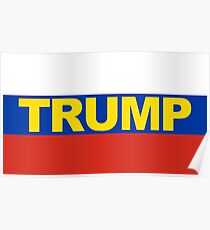 Trump Russian Flag CPAC Poster