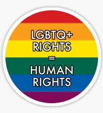 LGBTQ RIGHTS ARE HUMAN RIGHTS Sticker