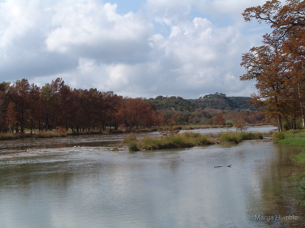 Texas Hill Country In Fall by Marya Humble