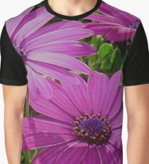 Purple And Pink Tropical Daisy Flower Graphic T-Shirt