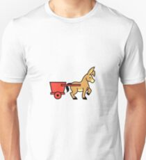 Mule and cart icon Unisex T-Shirt