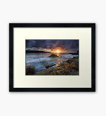 Sunrise over the ocean Framed Print