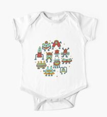Funny robots-aliens in the circle. Kids Clothes