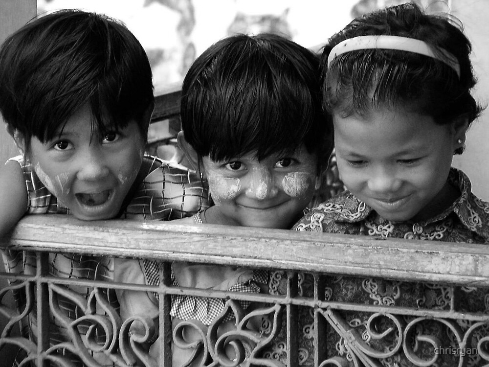 Burmese Children by chrisryan