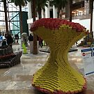 Canstruction, Can Sculptures, Apple Sculpture, Brookfield Place, New York City  by lenspiro