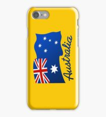 Australian continent with flag iPhone Case/Skin