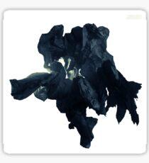 Black paper flower Sticker