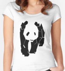 Panda At The Corner Women's Fitted Scoop T-Shirt