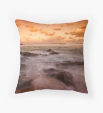 Bar Beach at Dusk 7 Throw Pillow