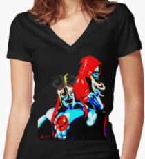 Ancient Spirits of Evil... Women's Fitted V-Neck T-Shirt