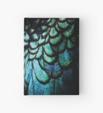 feathery necklace Hardcover Journal