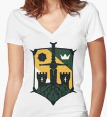 Knights Emblem Women's Fitted V-Neck T-Shirt
