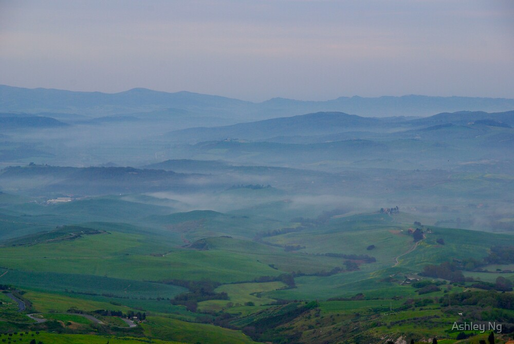 Mists over Tuscany by Ashley Ng