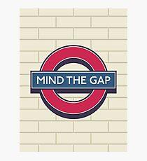London Underground - Mind the Gap Photographic Print