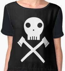 Axe Skull Chiffon Top
