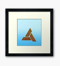 Sky Blue Triangles Framed Print