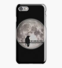 like a bird on wire  iPhone Case/Skin