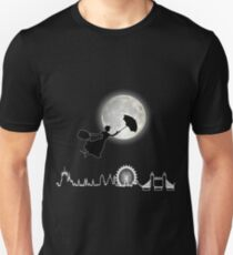 Magical Nanny Over London - neon light T-Shirt
