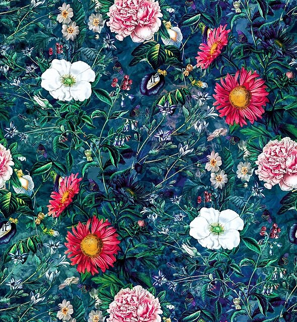 Spring Flowers Dark by RIZA PEKER