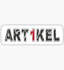 artikel 1-2 Sticker