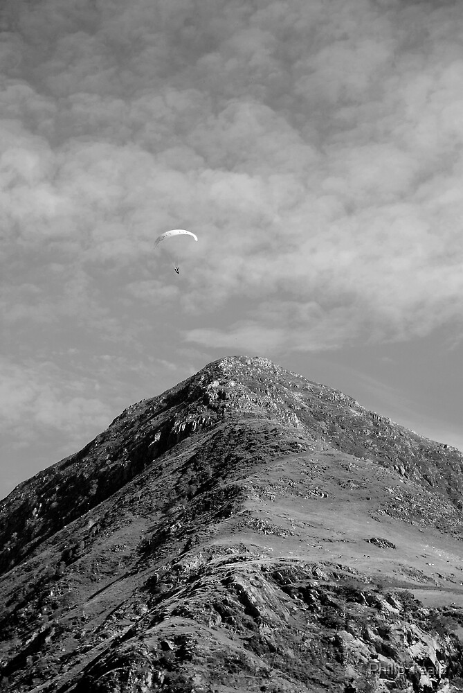 Parascending over Fleetwith Pike by Philip Teale