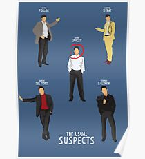 The Usual Suspects, movie poster, Benicio Del Toro, Kevin Spacey, Gabriel Byrne, classic film, minimal, alternative  Poster
