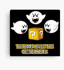 The Boos have the question box Canvas Print
