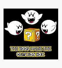 The Boos have the question box Photographic Print