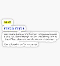 Raven Reyes Definition  Sticker